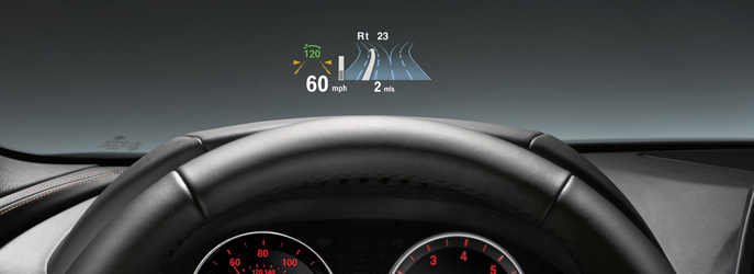 bmw 6 series coupe full colour bmw head up display. Black Bedroom Furniture Sets. Home Design Ideas